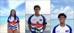 Cayman's swimmers take to the sea for training...