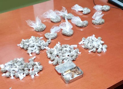 Several Packages of Ganja Recovered From Vehicle