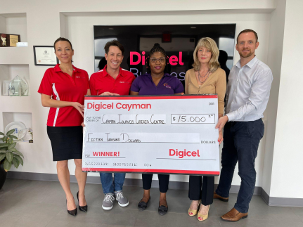 Digicel Business raises $15,000.00 for Cayman Islands Crisis Centre